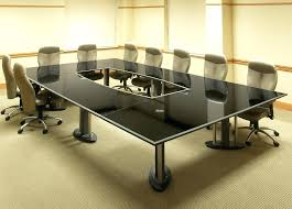 large conference table a large granite top conference table with an open center is supported by large conference table