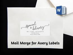 Avery Word Mail Merge Envelope Label Address Template Avery 2 X 4