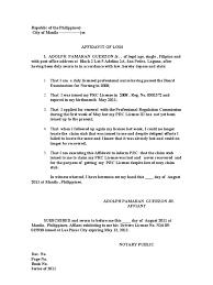Affidavit Of Loss Jay R