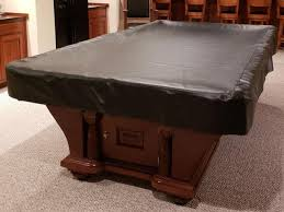 9 leather vinyl pool table cover 61 in x 111 in black
