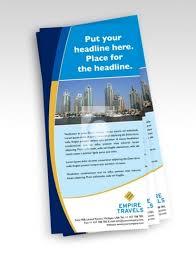 Print Ready Template Dl Size Travel Agency Flyer Print Ready