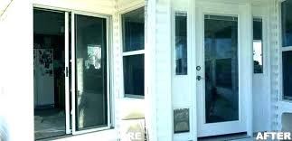 cost to replace sliding door with french doors glass replacement patio multi multiple pane