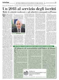 Ordine dei Dottori Commercialisti e degli Esperti Contabili di Roma - Italia  Oggi