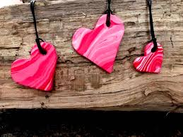 polymer clay necklaces how to marble polymer clay diy heart pendants