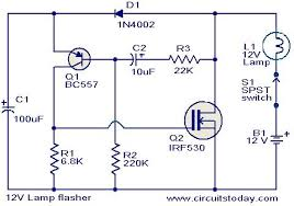 popular circuits page 469 next gr 12v lamp flasher circuit
