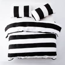 new black white striped duvet cover bedding set with pillow cases quilt cover