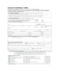 Referral Form Templates Doctor Referral Form Template Callatishigh Info
