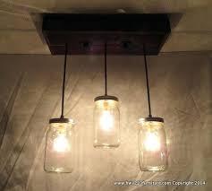 mason jar lighting fixture. 3 Pendant Mason Jar Chandelier Kitchen Lighting Amazing Ceiling Light As  Well 7 Lights Uk Best . How To Make A Fixture