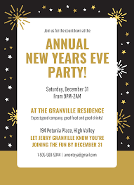 new year s template gold new years eve party invitation template