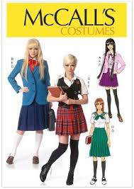 Mccalls Costume Patterns Delectable McCall's 48 Sewing Pattern Misses' Animee School Girl Uniform