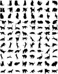 犬猫シルエット素材集 無料ダウンロード