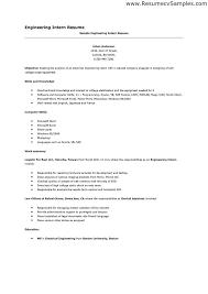 Engineering Internship Resume Examples Free Resume Builder Resume