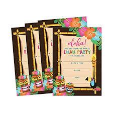 Hawaiian Pool Party Invitations Amazon Com 50 Tiki Hawaiian Luau Summer Swim Pool Party Invitations