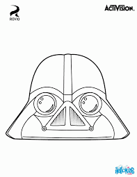 Angry Birds Star Wars Coloring Pages Vader Coloring Home