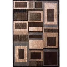 bazaar gal 1196 black brown 8 ft x 10 ft indoor area rug