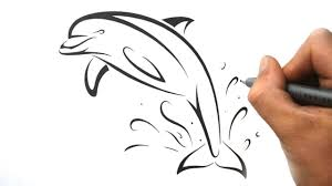 How To Draw A Dolphin Tribal Tattoo Design Style