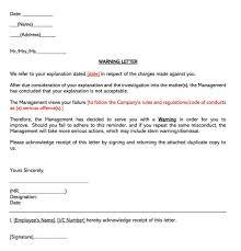 employee warning notice letter free