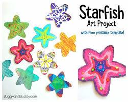 Printable Kids Easy Starfish Craft For Kids With Free Printable Template Buggy