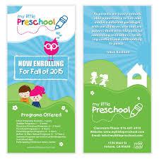 Child Care Brochure Design Preschool Flyer Template 06 Starting A Daycare Preschool