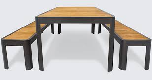 dining table bench seat nz. nz outdoor furniture - wooden \u0026 black aluminium 6 to 8 seater dining table bench seat nz e