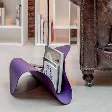 Purple Magazine Holder Fly 100 Tonin Casa magazine rack covered with imitation leather 14