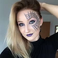 pretty spider web makeup design