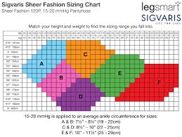Fashion Pantyhose Size Chart Legsmart Sigvaris Download