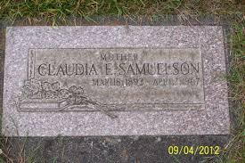 Claudia Evelyn Amen Samuelson (1892-1967) - Find A Grave Memorial