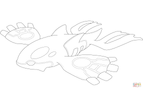 Small Picture Kyogre Pokemon coloring page Free Printable Coloring Pages