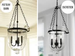 get a glass lantern chandelier at instead of pottery barn