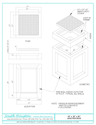 Box Drain Design Junction Boxes South Houston Concrete Pipe Company Inc