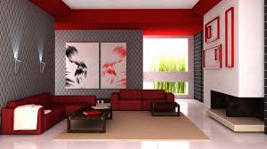 Small Picture 3D Interior Design Red Accents widescreen wallpaper Wide
