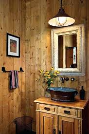 small rustic bathroom vanity cabin vanities interesting lights light n83 lights
