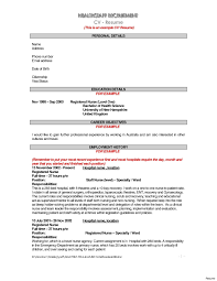 Student Nurse Resume Cover Letter Employment Certificate Sample For Clinic Nurse Copy Printable 53