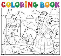 Livre De Coloriage Princesse Heureuse Pr S Du Ch Teau Clip Art
