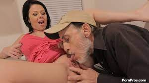 Dirty Old Man Licking Pussy