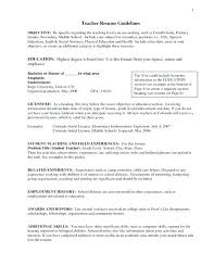 Education Objective For Resume Resume Objective Examples For Teachers Hotwiresite Com