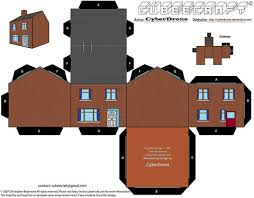House Building Paper Template Free Printable Papercraft Templates