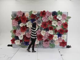 Paper Flower Images Paper Flower Wall Jen Spinner
