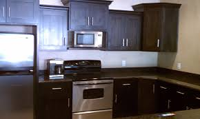Dark Mahogany Kitchen Cabinets Amusing Dark Brown Polished Mahogany Knotty Alder Cabinets And