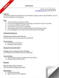 Download Preschool Teacher Resume Sample Resume Examples