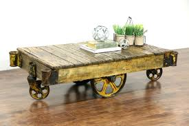 topic to coffee table on wheels rustic glass casters cool factory cart design modern also coffee table casters