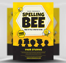 Handbill Template Spelling Bee Flyer Template Flyerheroes