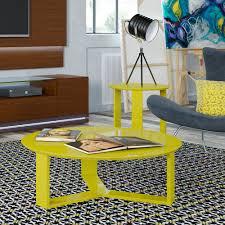 mc coffee table madison yellow gloss