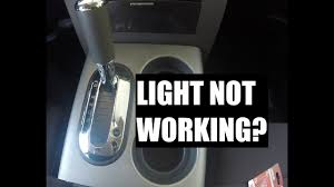 Gear Shift Light Not Working How To Change The Gear Shift Indicator Light Bulb On A 2008 Ford F150