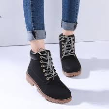 new women s work boots winter leather boot lace up outdoor waterproof snow boot