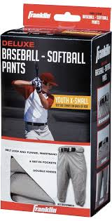 Brand New Boys Franklin Deluxe Baseball Softball White Pants
