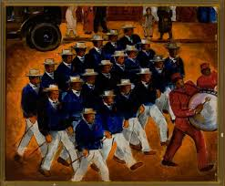 malvin gray johnson american 1896 1934 elks marching 1934 oil on canvas on loan from the amistad research center tulane university new orleans