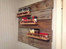 Wooden Spice Rack Wall Mount Impressive Large Wall Mounted Spice Rack Wood Wall Spice Racks Kitchen Wall