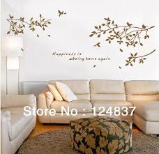 happiness is being home again quote vinyl wall art removable decals large tree branch sticker quotes on home wall art quotes with happiness is being home again quote vinyl wall art removable decals